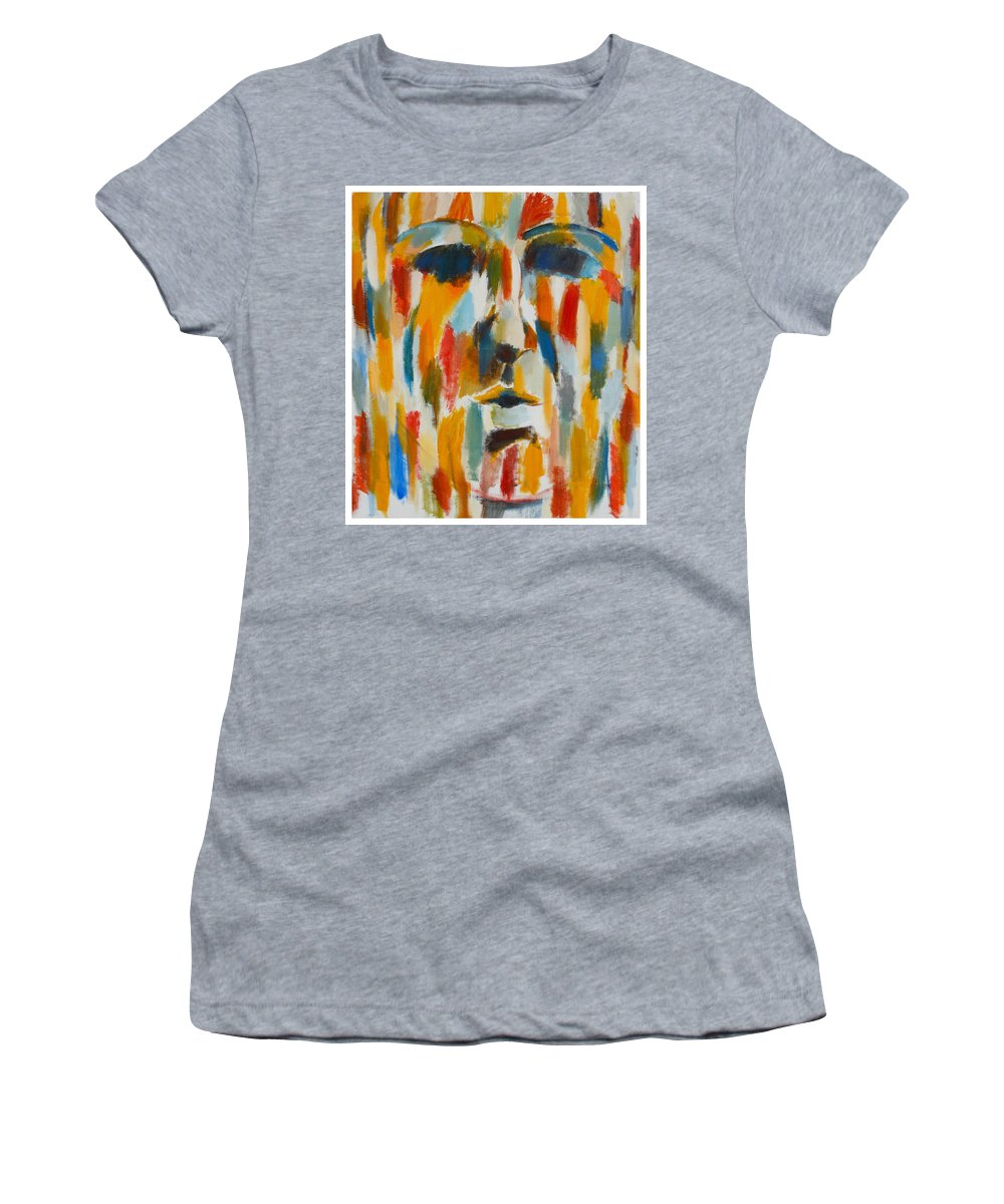 Yellow Women's T-Shirt featuring the painting Color Blind by Habib Ayat