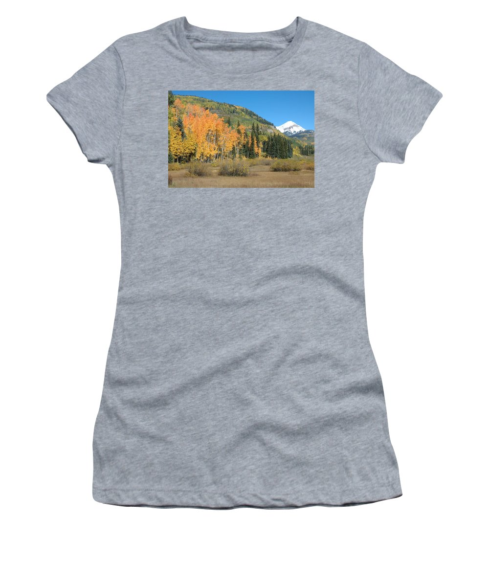 Aspen Women's T-Shirt featuring the photograph Colorado Gold by Jerry McElroy
