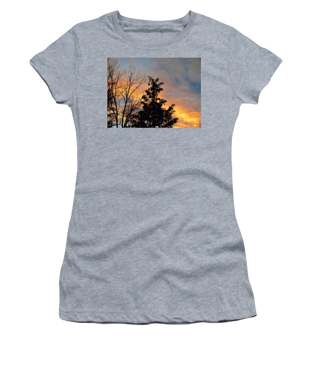 Sunset Women's T-Shirt (Athletic Fit) featuring the photograph Colorful Nightfall by Will Borden