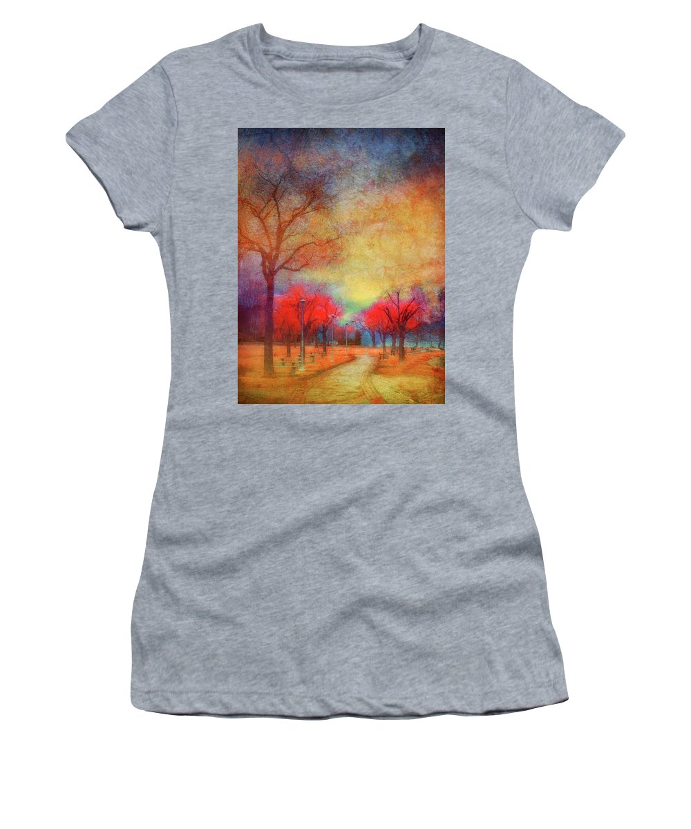 Trees Women's T-Shirt (Athletic Fit) featuring the photograph Colour Burst by Tara Turner