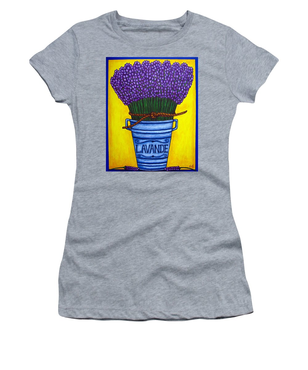 Antique Women's T-Shirt featuring the painting Colours of Provence by Lisa Lorenz