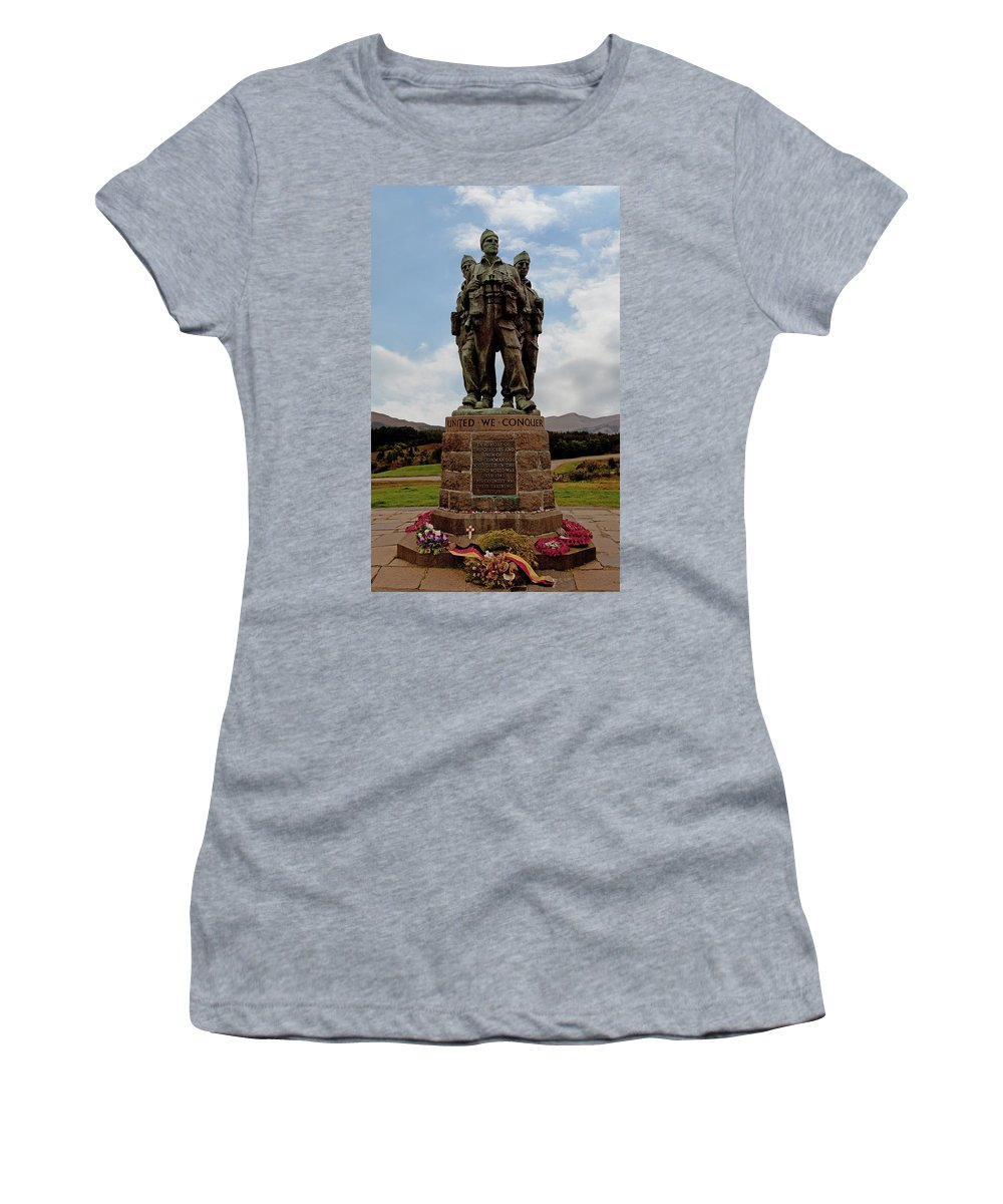 Commando Memorial Women's T-Shirt (Athletic Fit) featuring the photograph Commando Memorial 2 by Chris Thaxter