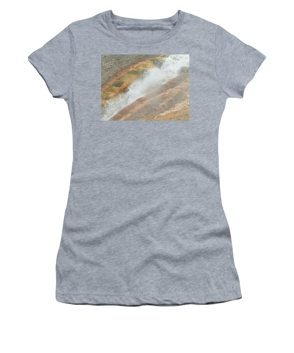 Yellowstone Women's T-Shirt (Athletic Fit) featuring the digital art Conflict Of Forms by Valerie Nolan