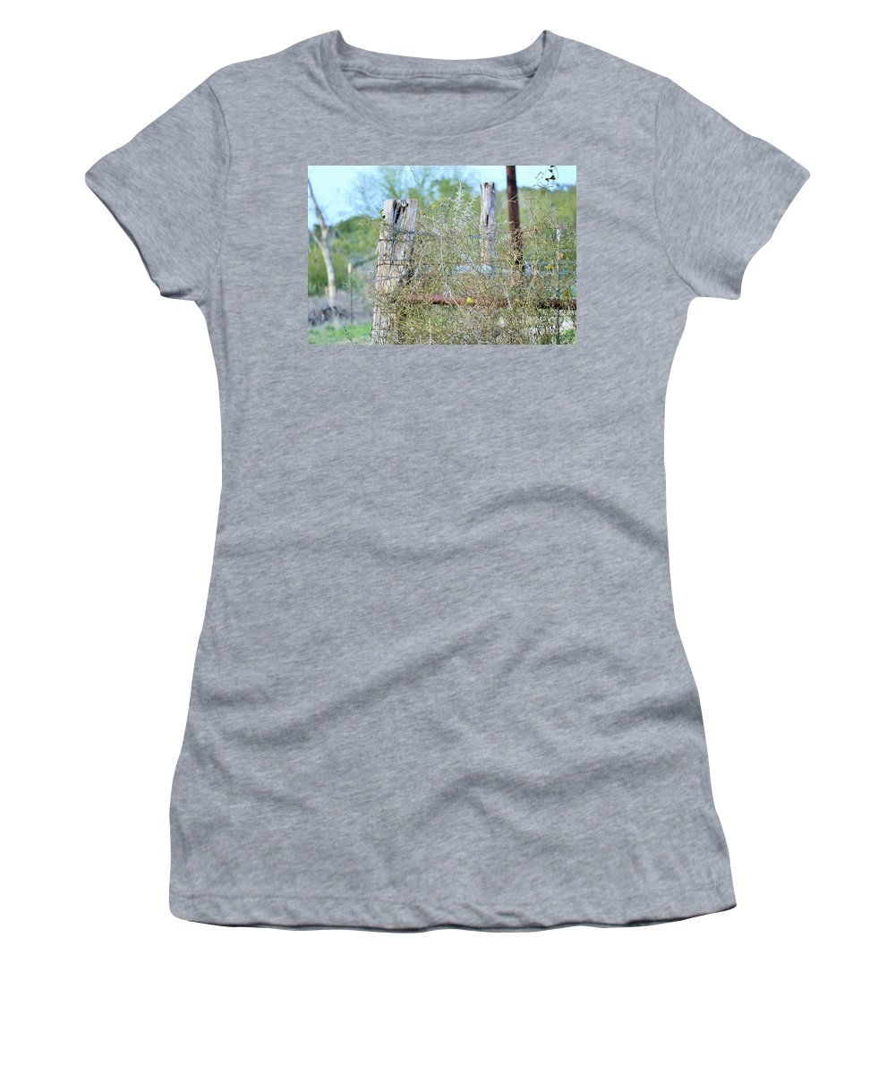 Women's T-Shirt featuring the photograph Corner Post by Jeff Downs