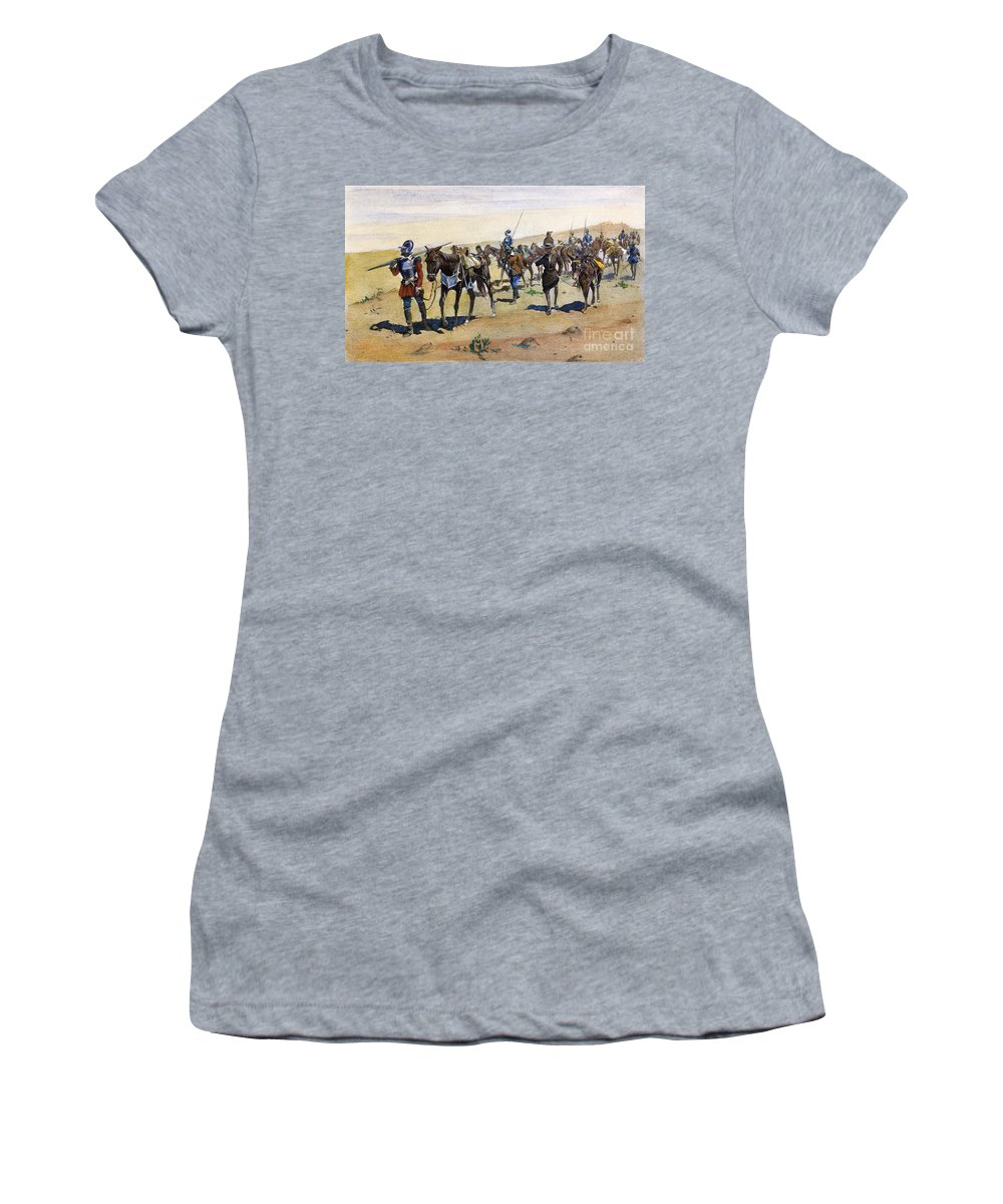 1540 Women's T-Shirt (Athletic Fit) featuring the painting Coronados March, 1540 by Granger