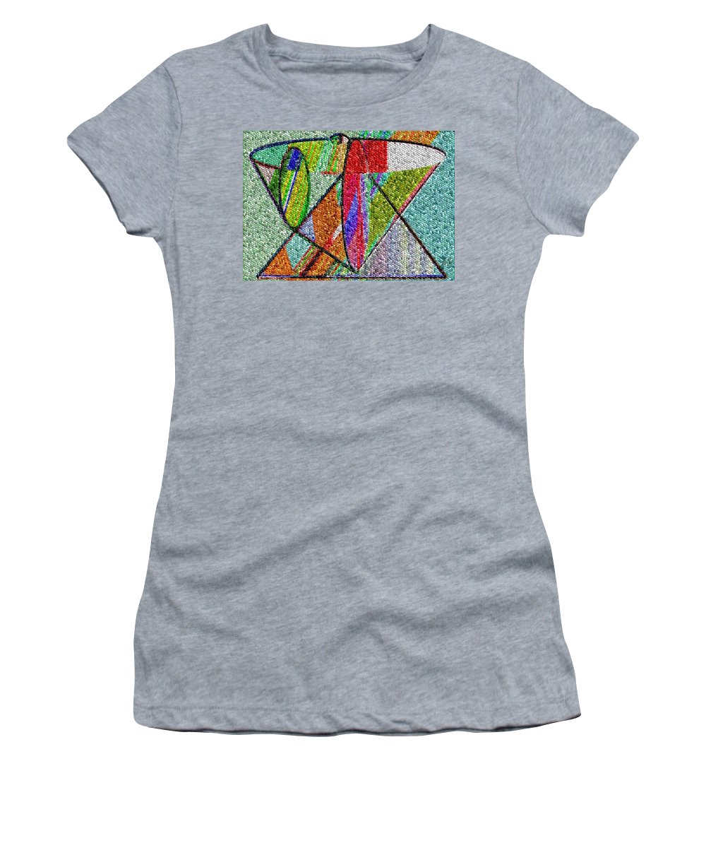 Life Women's T-Shirt (Athletic Fit) featuring the digital art Cosmic Lifeways Mosaic by Helmut Rottler