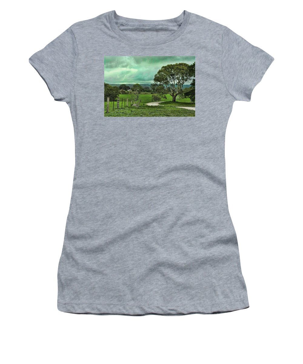 Dirt Road Women's T-Shirt featuring the photograph Country Road by Douglas Barnard