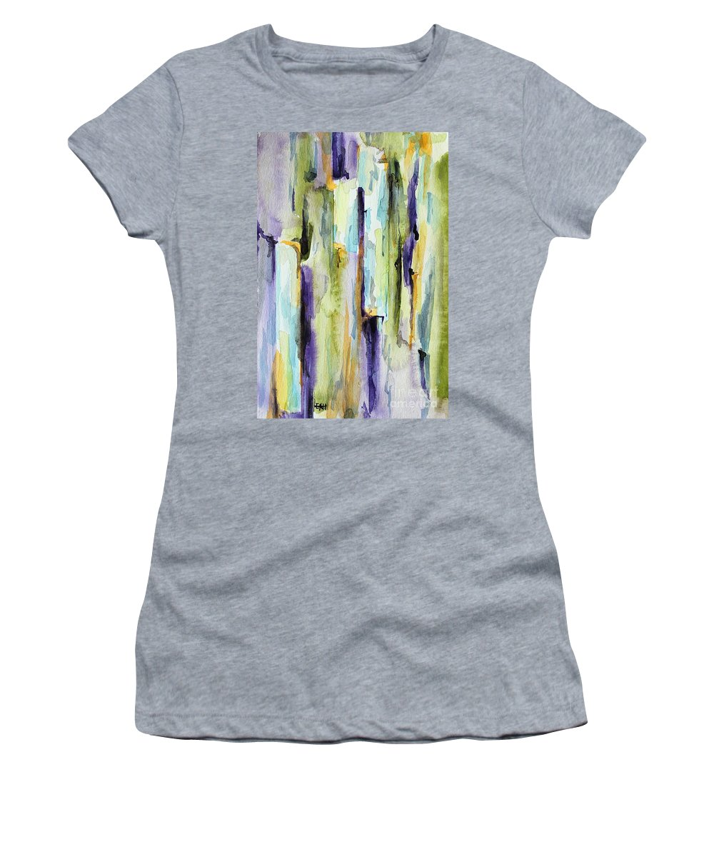 Abstract Women's T-Shirt featuring the painting Crack by Leslie Hanner