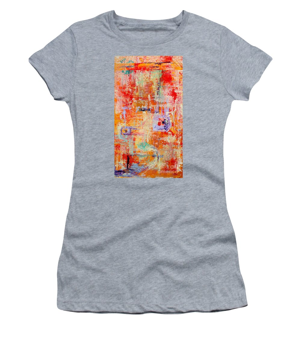 Large Format Painting Women's T-Shirt (Athletic Fit) featuring the painting Crescendo by Pat Saunders-White