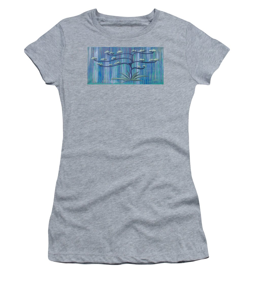 Tree Women's T-Shirt (Athletic Fit) featuring the painting Cross Tree by Kelly Jade King