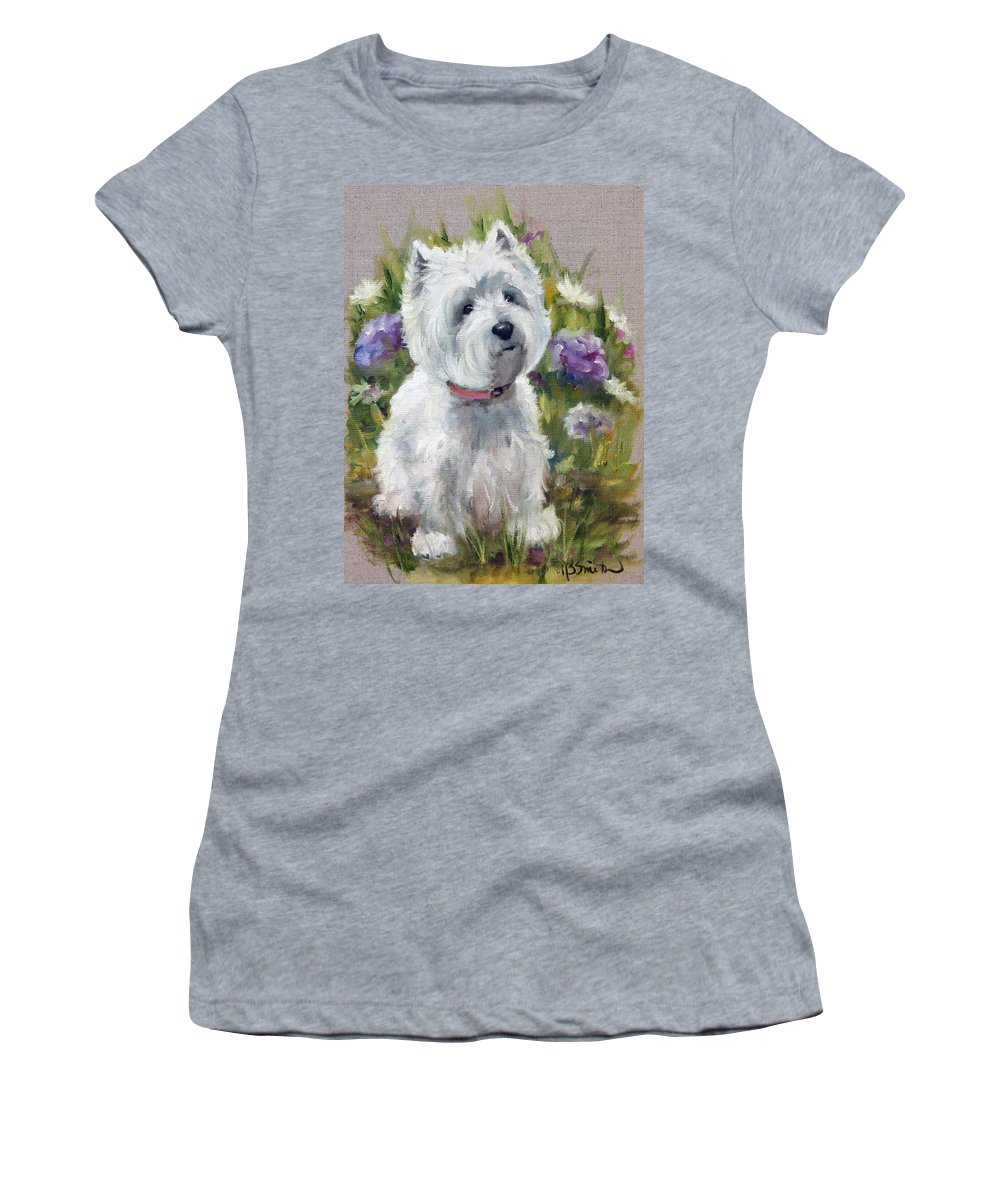 Art Women's T-Shirt featuring the painting Curiosity by Mary Sparrow