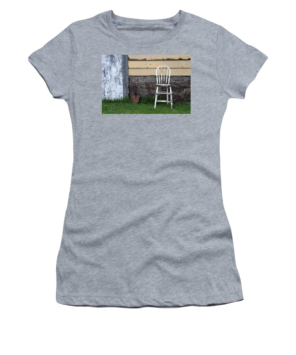 Chair Women's T-Shirt featuring the photograph Dads High Chair by Lauri Novak