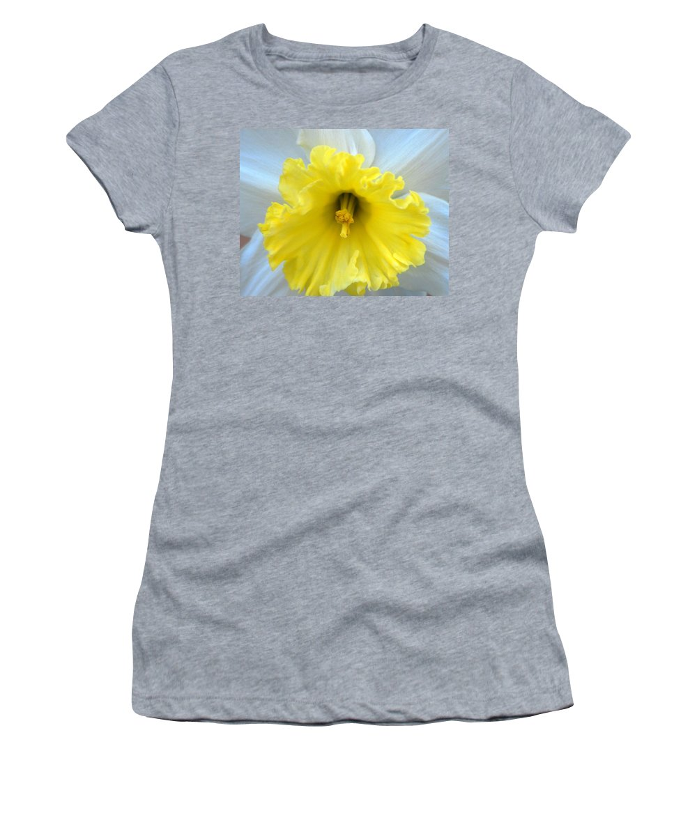 Daffodil Women's T-Shirt (Athletic Fit) featuring the photograph Daffodil by Amy Fose