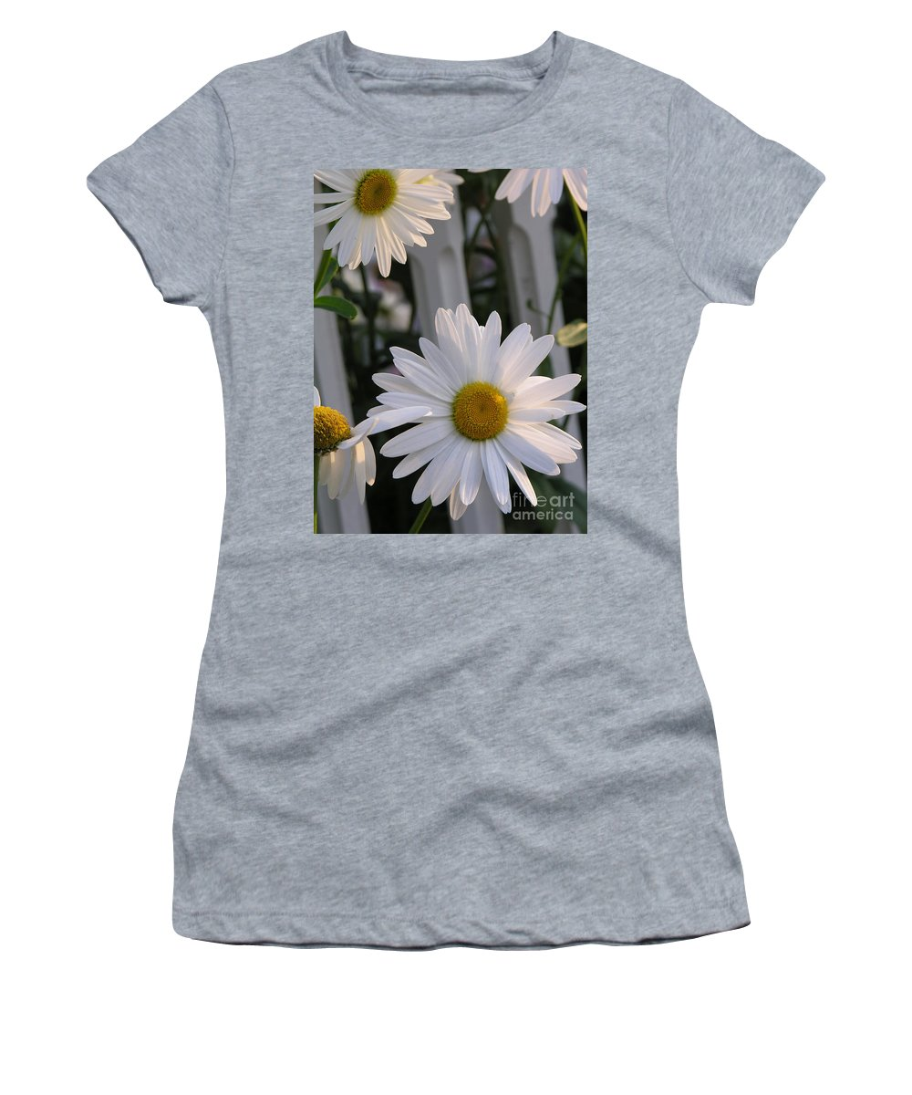 Daisy Women's T-Shirt (Athletic Fit) featuring the photograph Daisy by Diane Greco-Lesser