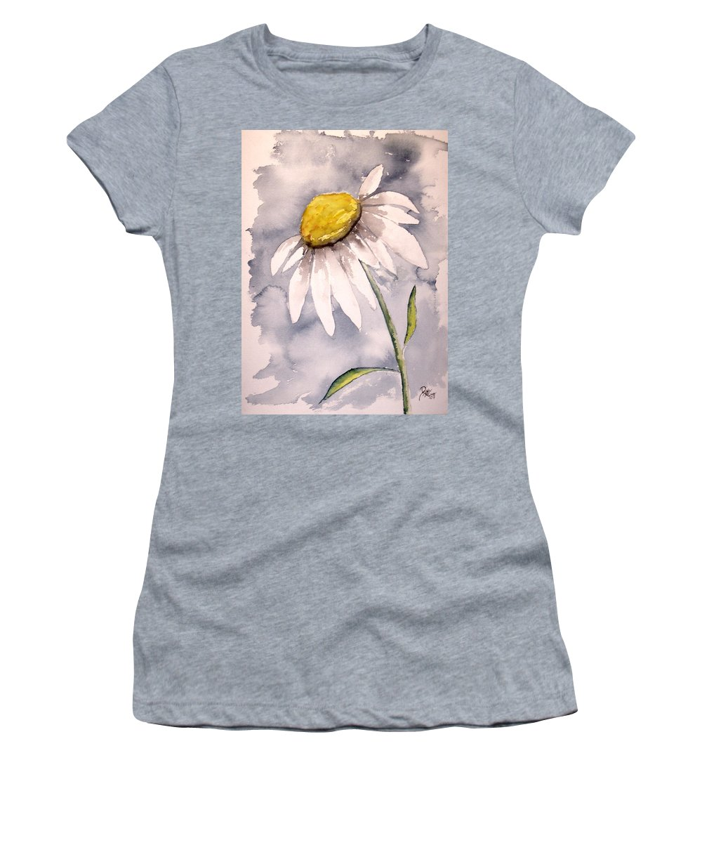 Daisy Women's T-Shirt (Athletic Fit) featuring the painting Daisy Modern Poster Print Fine Art by Derek Mccrea