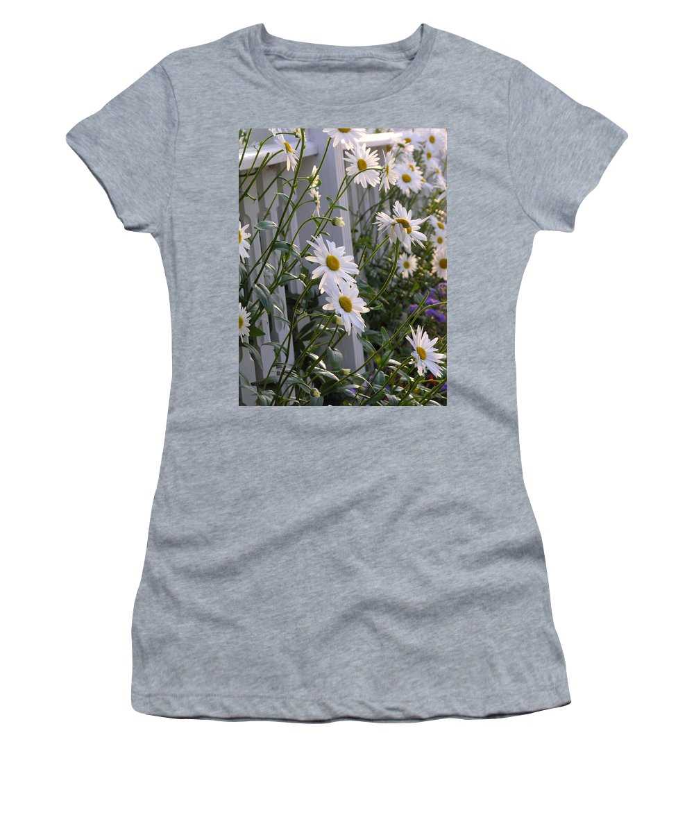 Daisy Women's T-Shirt (Athletic Fit) featuring the photograph Daisy's Escaping by Diane Greco-Lesser