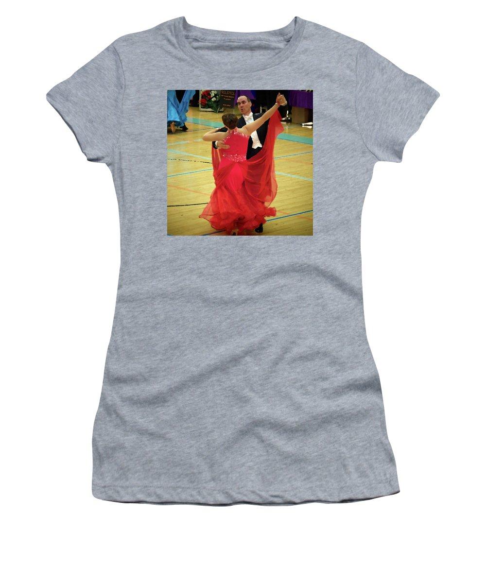 Lehtokukka Women's T-Shirt featuring the photograph Dance Contest Nr 11 by Jouko Lehto