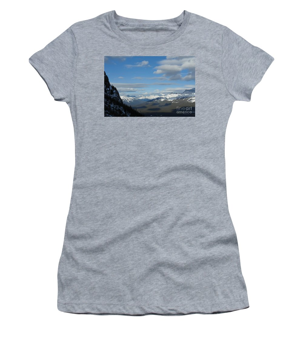 Dappled Slopes Women's T-Shirt (Athletic Fit) featuring the photograph Dappled Slopes by Greg Hammond