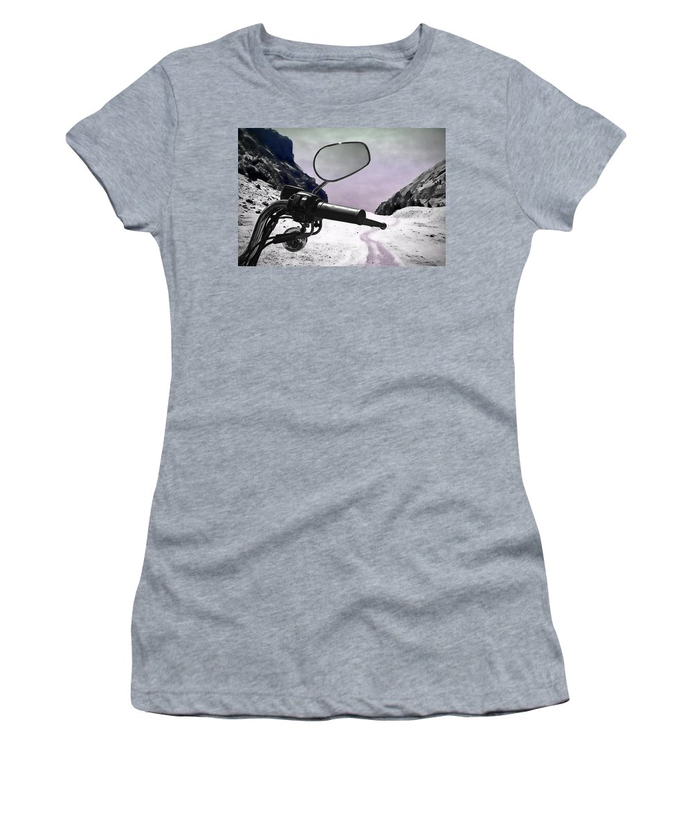 Handle Women's T-Shirt (Athletic Fit) featuring the photograph Daredevil by Evelina Kremsdorf