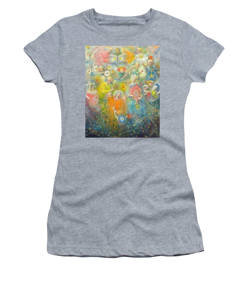 Daydream Women's T-Shirt featuring the painting Daydream After The Music Of Max Reger by Annael Anelia Pavlova