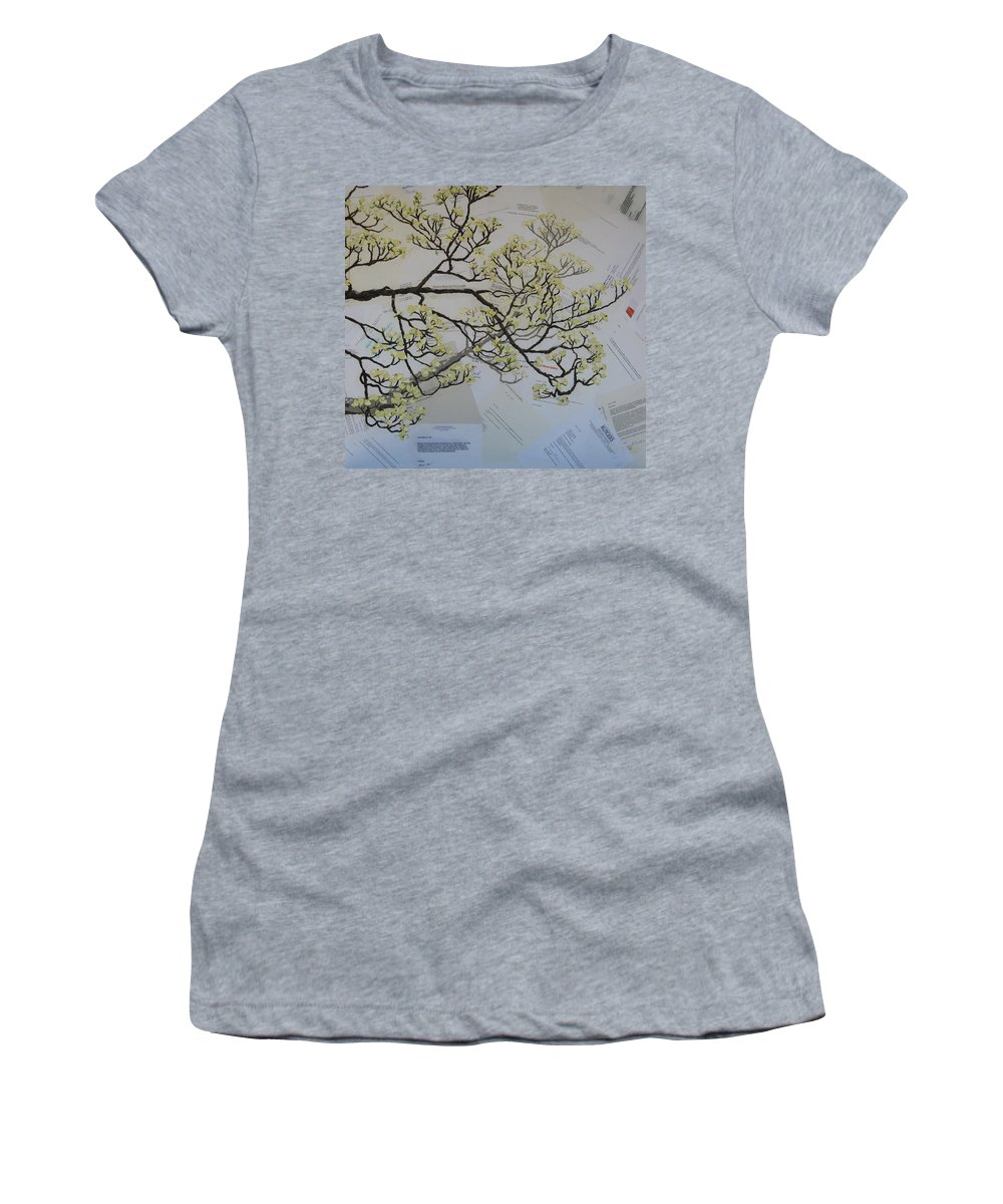 Collage Women's T-Shirt featuring the painting Dear Artist by Leah Tomaino