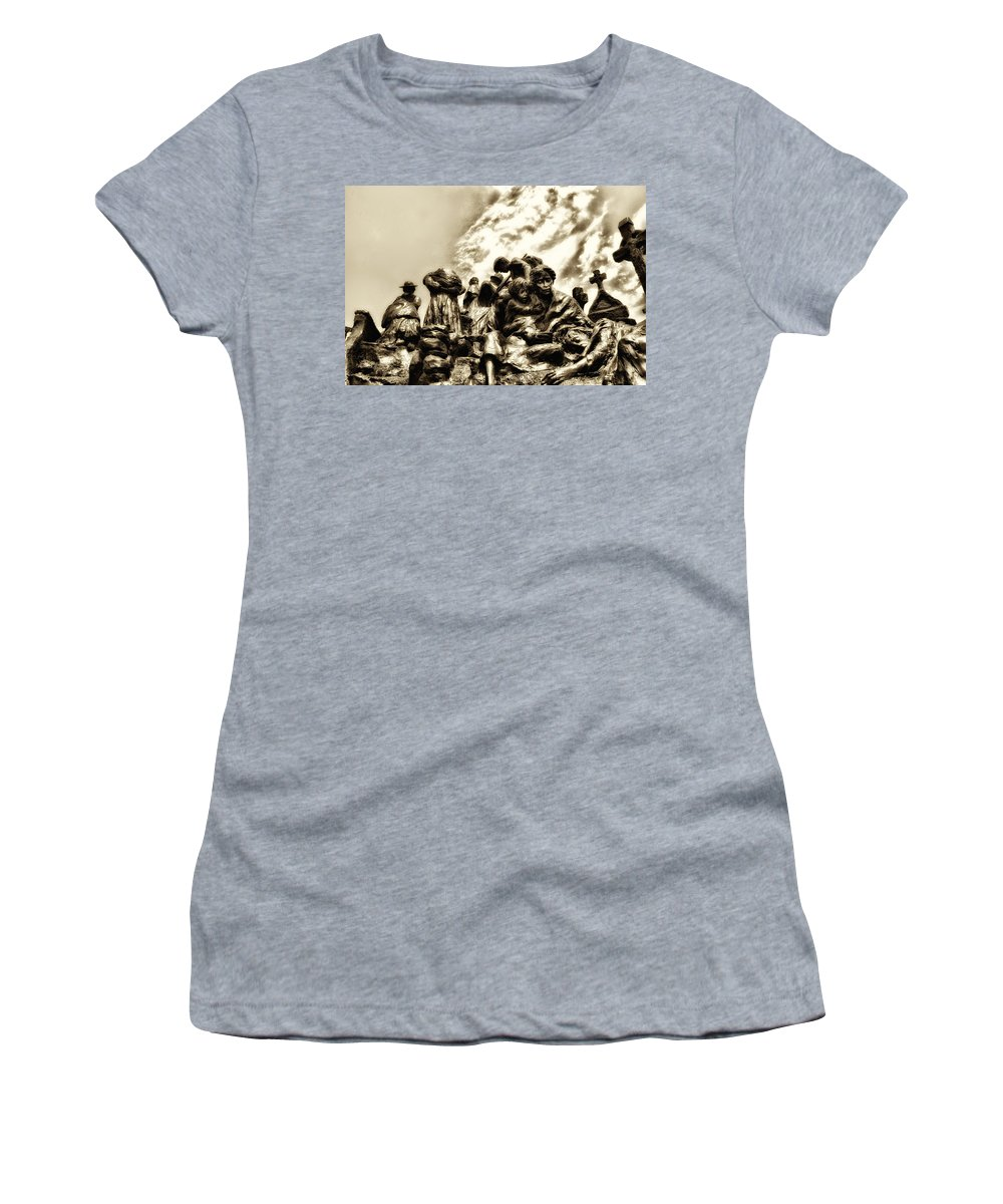 Philadelphia Women's T-Shirt (Athletic Fit) featuring the photograph Death In The Time Of The Irish Famine by Bill Cannon