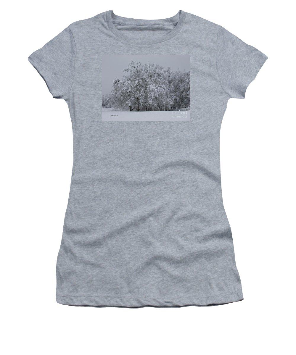 Oregon Women's T-Shirt featuring the photograph Deep Winter by Shari Nees
