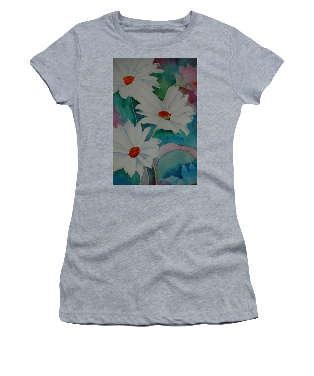 Daisies Women's T-Shirt featuring the painting Devin's Dasies by Melinda Etzold