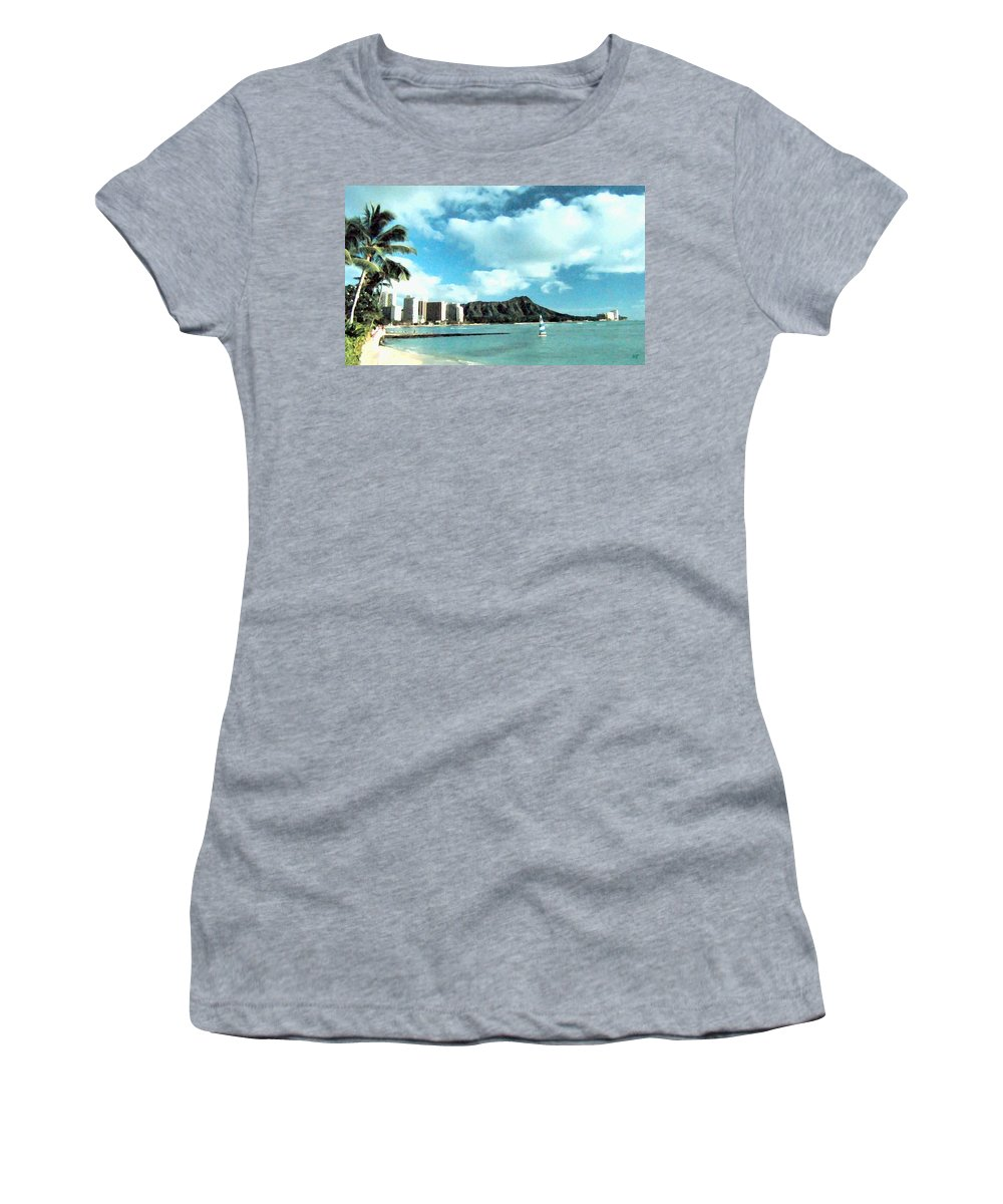 1986 Women's T-Shirt (Athletic Fit) featuring the digital art Diamond Head by Will Borden