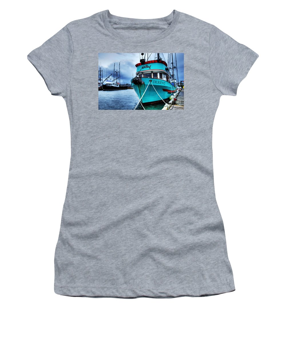 Boats Women's T-Shirt featuring the photograph Diligence by Bob Christopher
