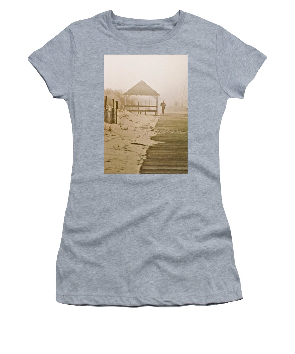 Landscape Women's T-Shirt (Athletic Fit) featuring the photograph Disappearance by Steve Karol