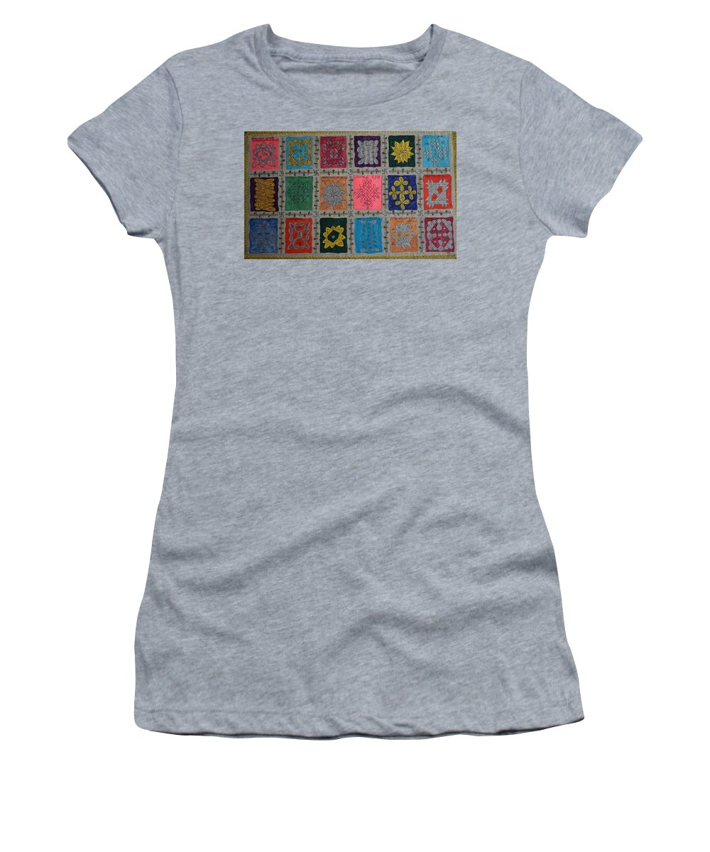 Religion Women's T-Shirt featuring the painting Diversity by M Ande