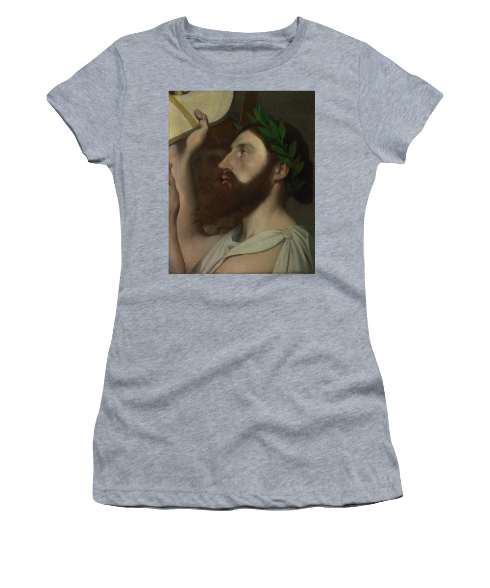 Jean Women's T-Shirt (Athletic Fit) featuring the digital art Dominique Ingres  Pindar And Ictinus by PixBreak Art