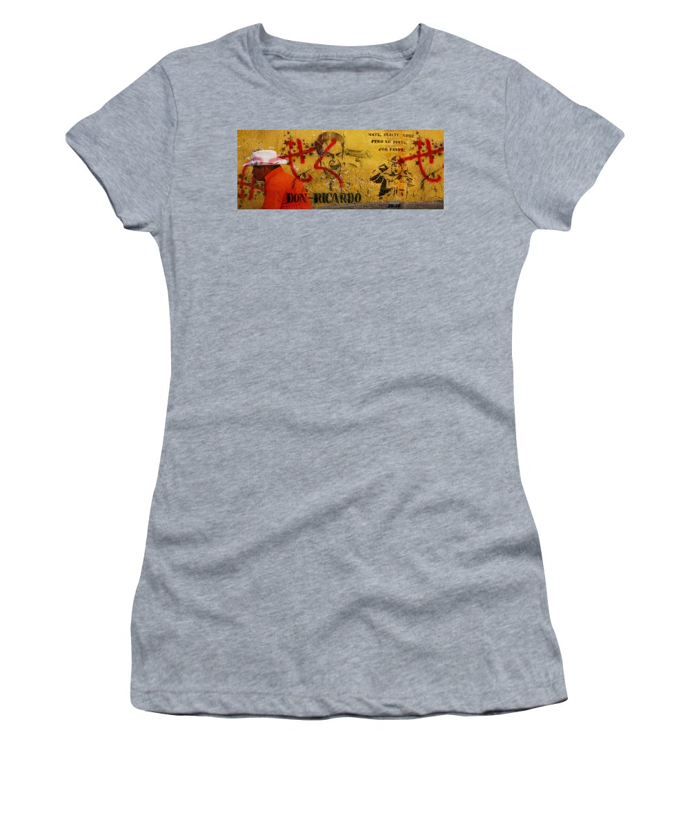 Grafitti Women's T-Shirt (Athletic Fit) featuring the photograph Don-ricardo by Skip Hunt