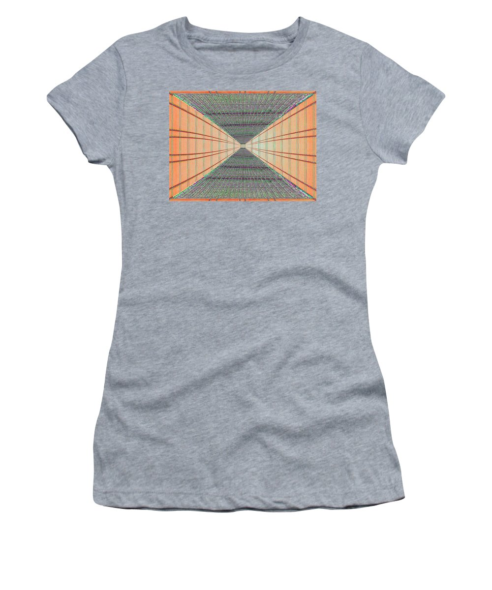 Achitecture Women's T-Shirt (Athletic Fit) featuring the photograph Dont Look Down by Tim Allen