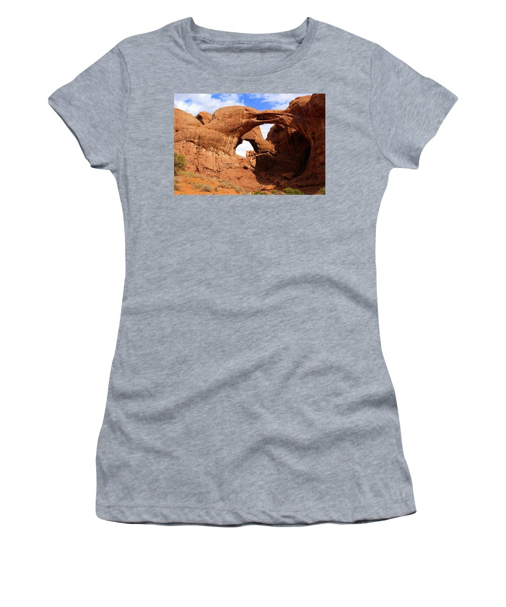 Southwest Art Women's T-Shirt featuring the photograph Double Arch by Marty Koch