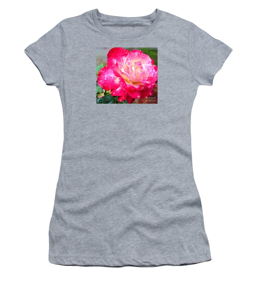 Fine Art Photography Women's T-Shirt featuring the photograph Double Delight by Patricia Griffin Brett
