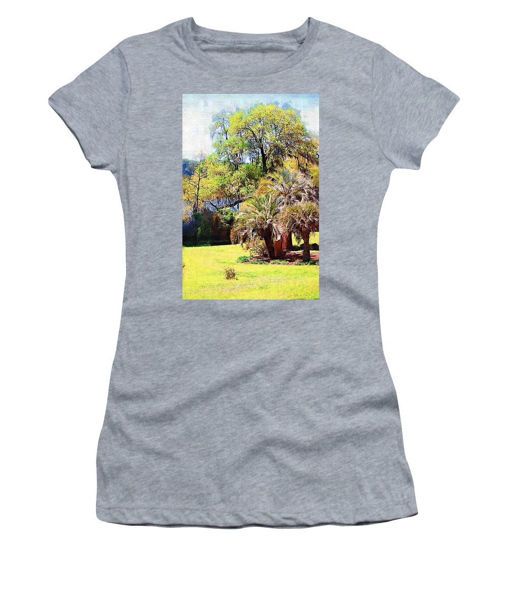 Landscape Women's T-Shirt (Athletic Fit) featuring the photograph Down By The Riverside by Donna Bentley