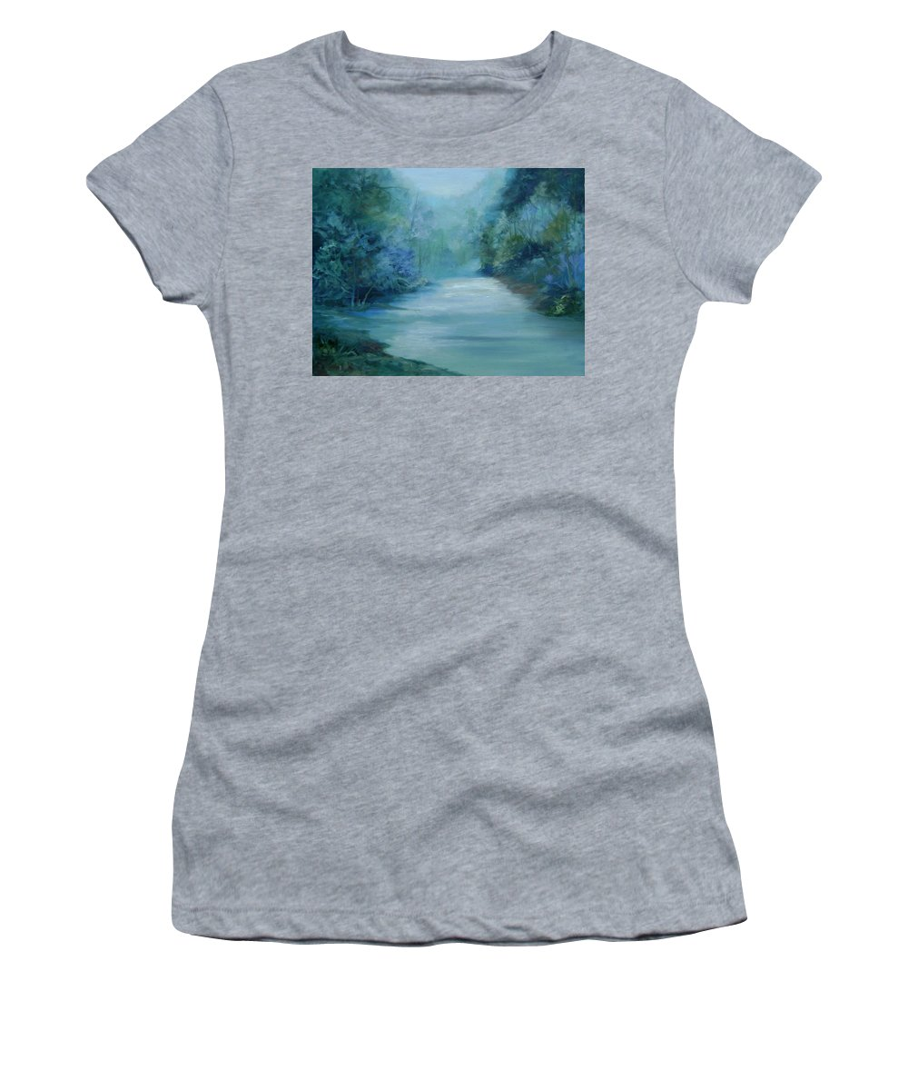 Burton River Georgia Women's T-Shirt featuring the painting Dreamsome by Ginger Concepcion