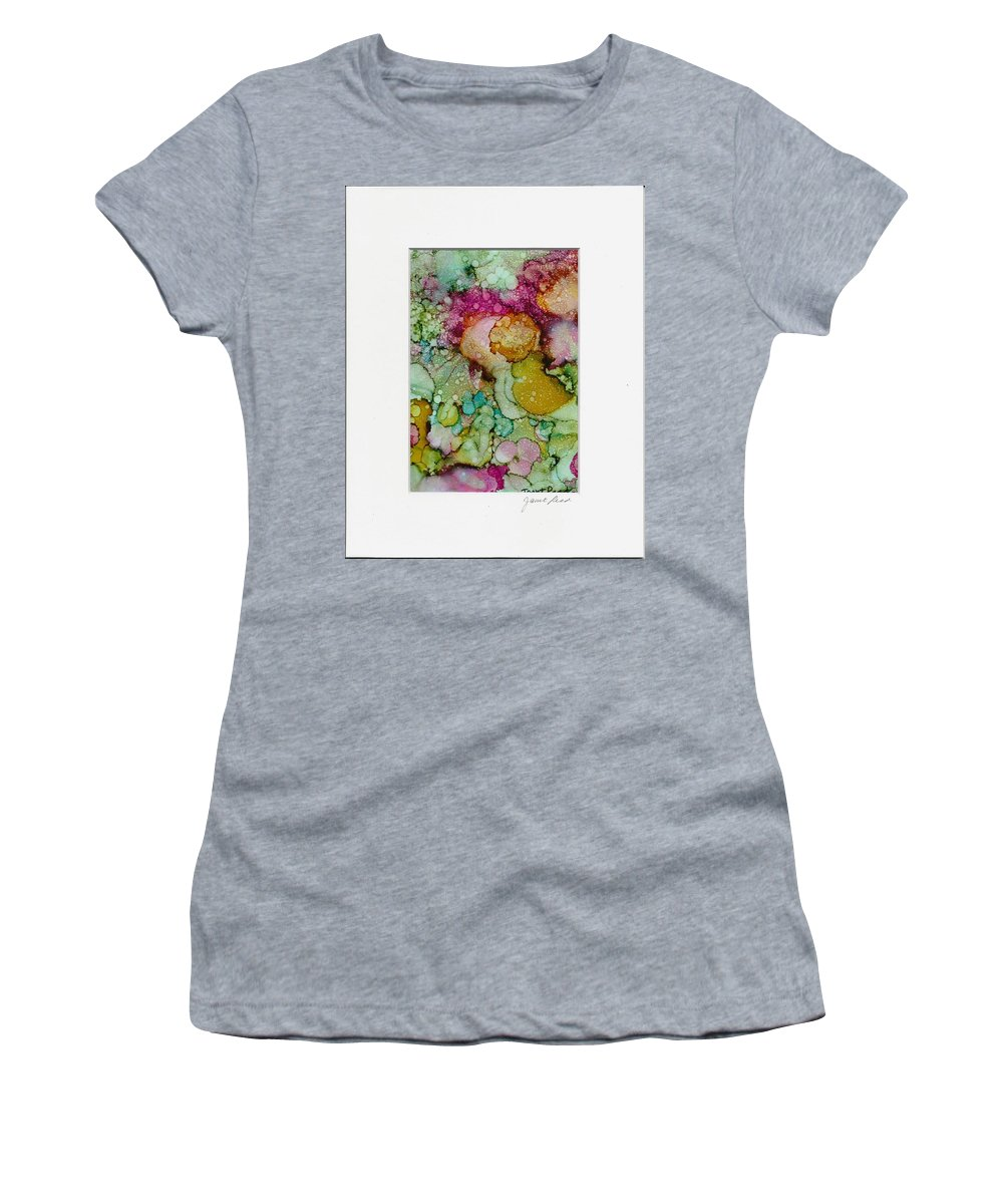 Alcohol Inks Women's T-Shirt (Athletic Fit) featuring the painting Dreamy by Janet Reed