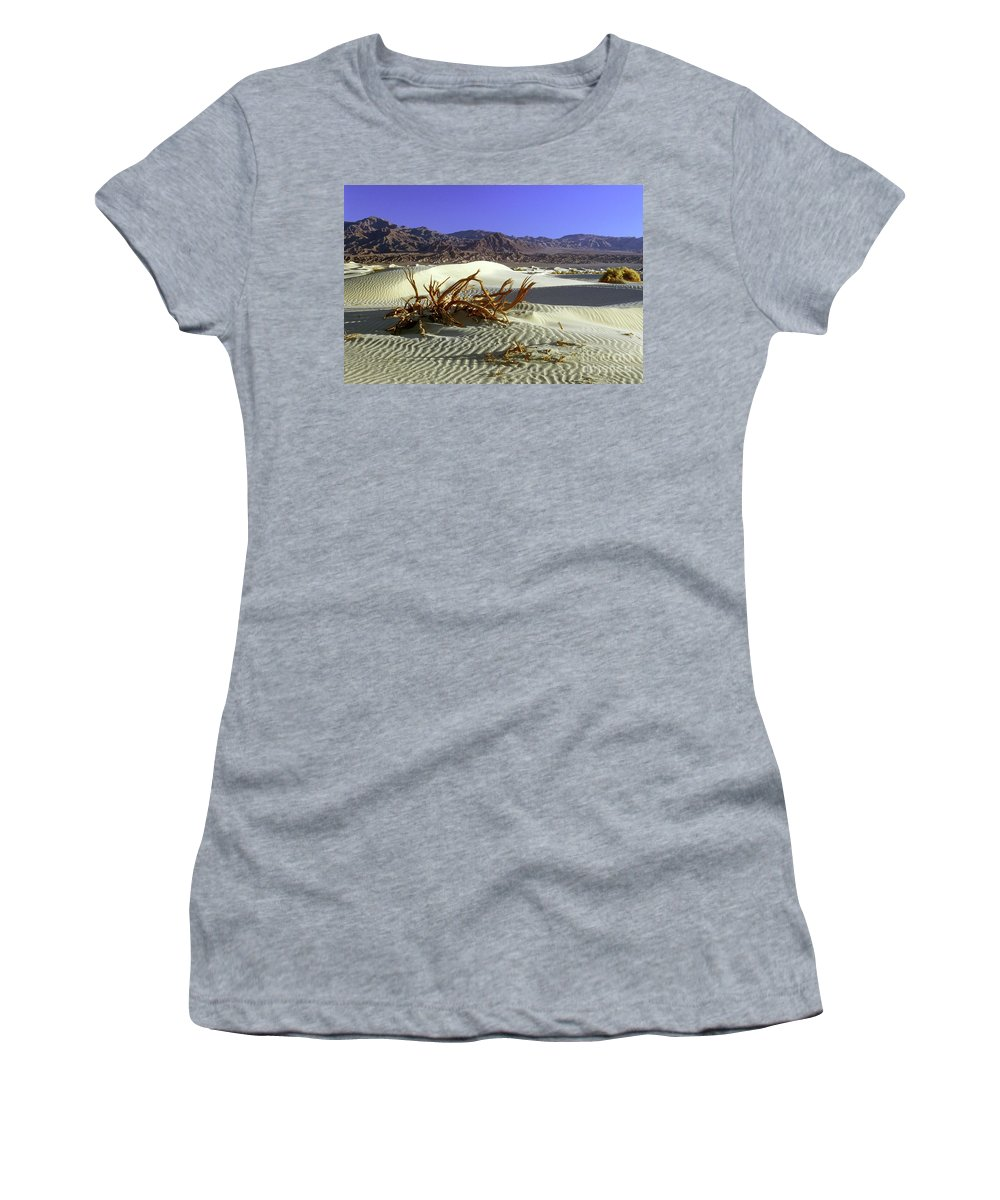 Sand Women's T-Shirt (Athletic Fit) featuring the photograph Driftwood Dune by Jim And Emily Bush
