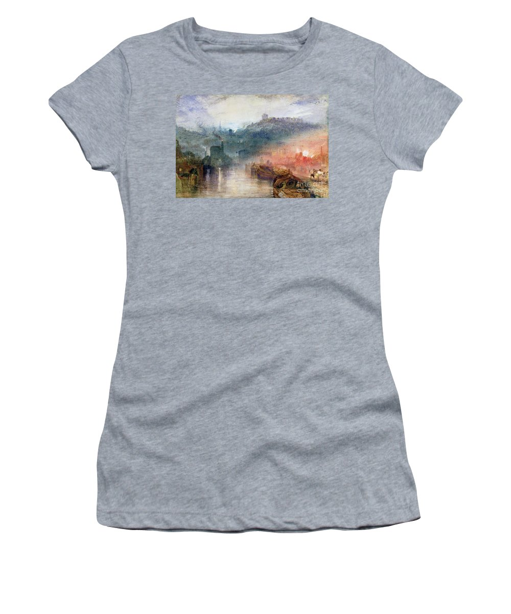 Dudley Women's T-Shirt (Athletic Fit) featuring the painting Dudley by Joseph Mallord William Turner