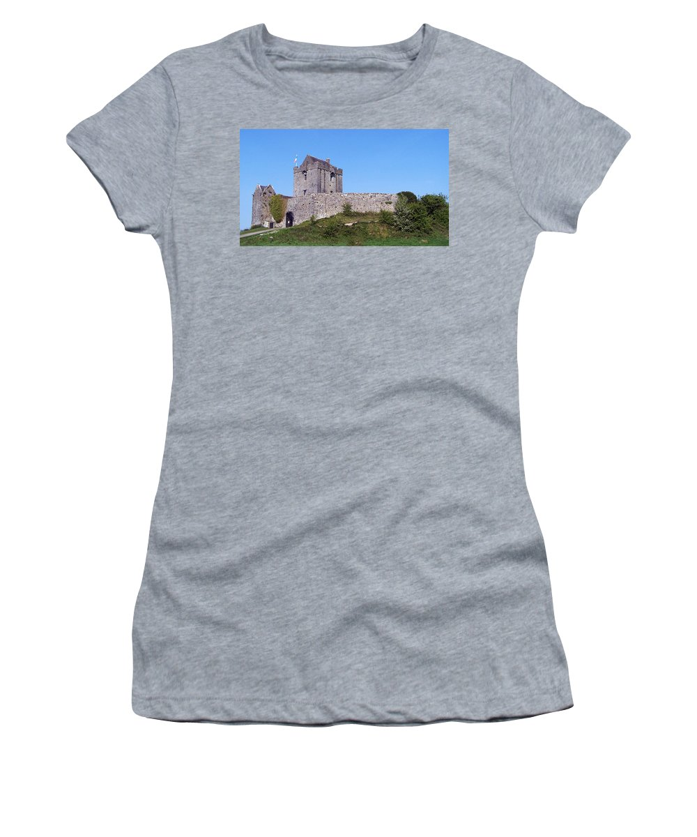 Irish Women's T-Shirt (Athletic Fit) featuring the photograph Dunguaire Castle Kinvara Ireland by Teresa Mucha