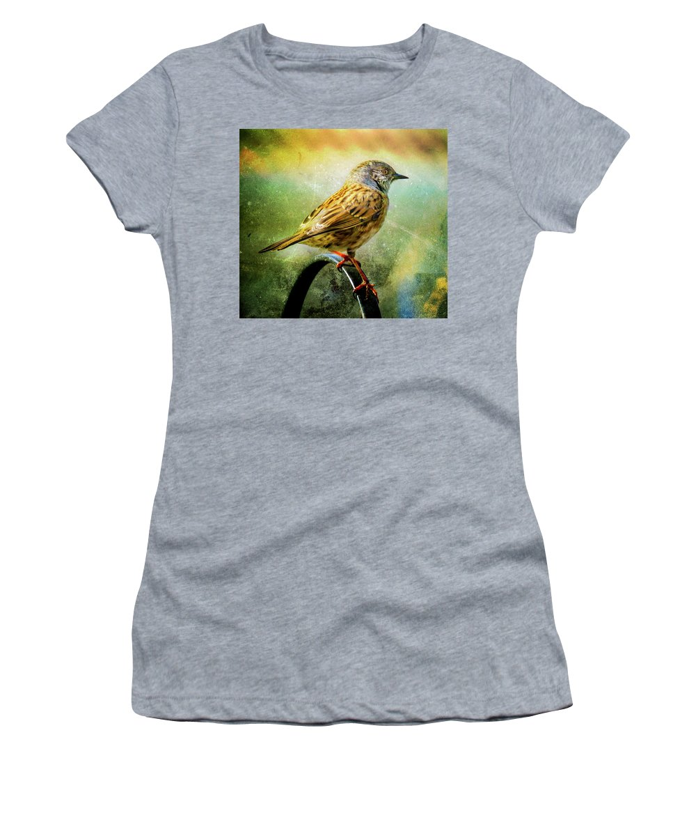 Dunnock Women's T-Shirt (Athletic Fit) featuring the photograph Dunnock by Richard Sayer