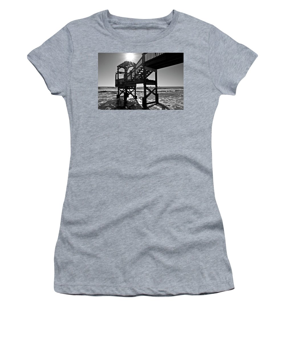Beach Women's T-Shirt (Athletic Fit) featuring the photograph Echo The Present by Betsy Knapp