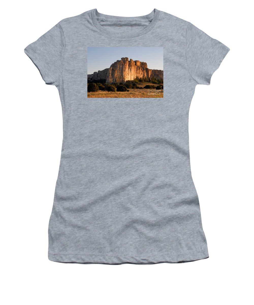 El Morro National Monument New Mexico Women's T-Shirt (Athletic Fit) featuring the photograph El Morro by David Lee Thompson