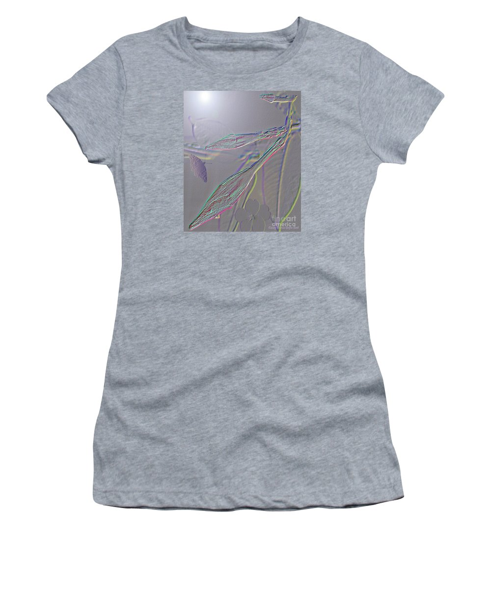Mixed Media Art Women's T-Shirt (Athletic Fit) featuring the photograph Emergence by Patricia Griffin Brett