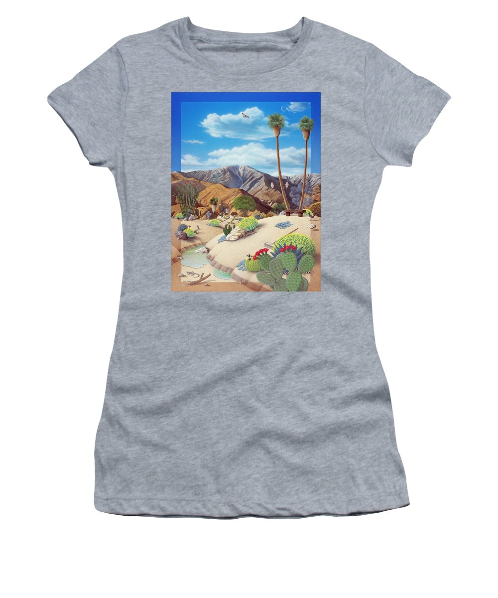 Desert Women's T-Shirt featuring the painting Enchanted Desert by Snake Jagger