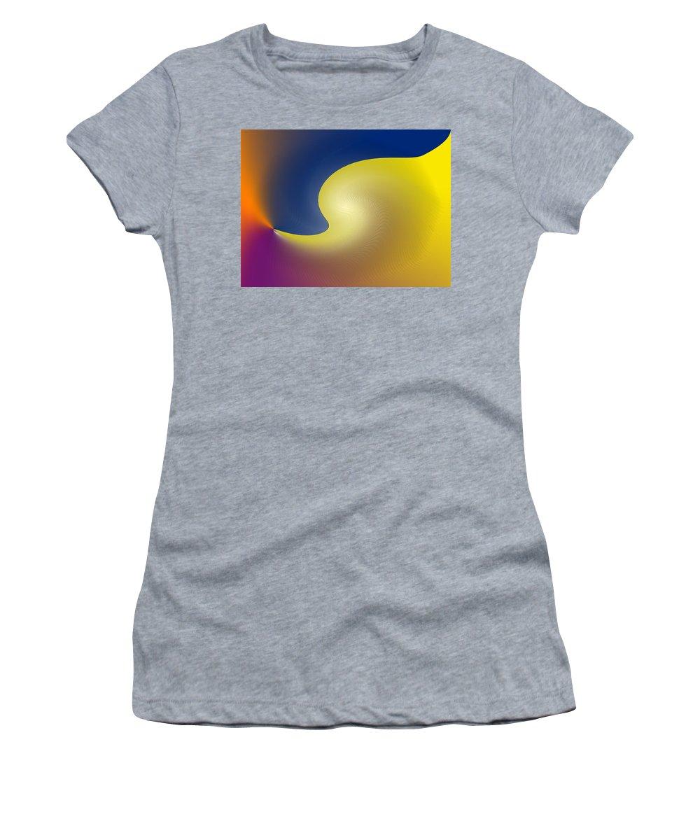 Abstract Women's T-Shirt featuring the digital art Encroaching by Ian MacDonald