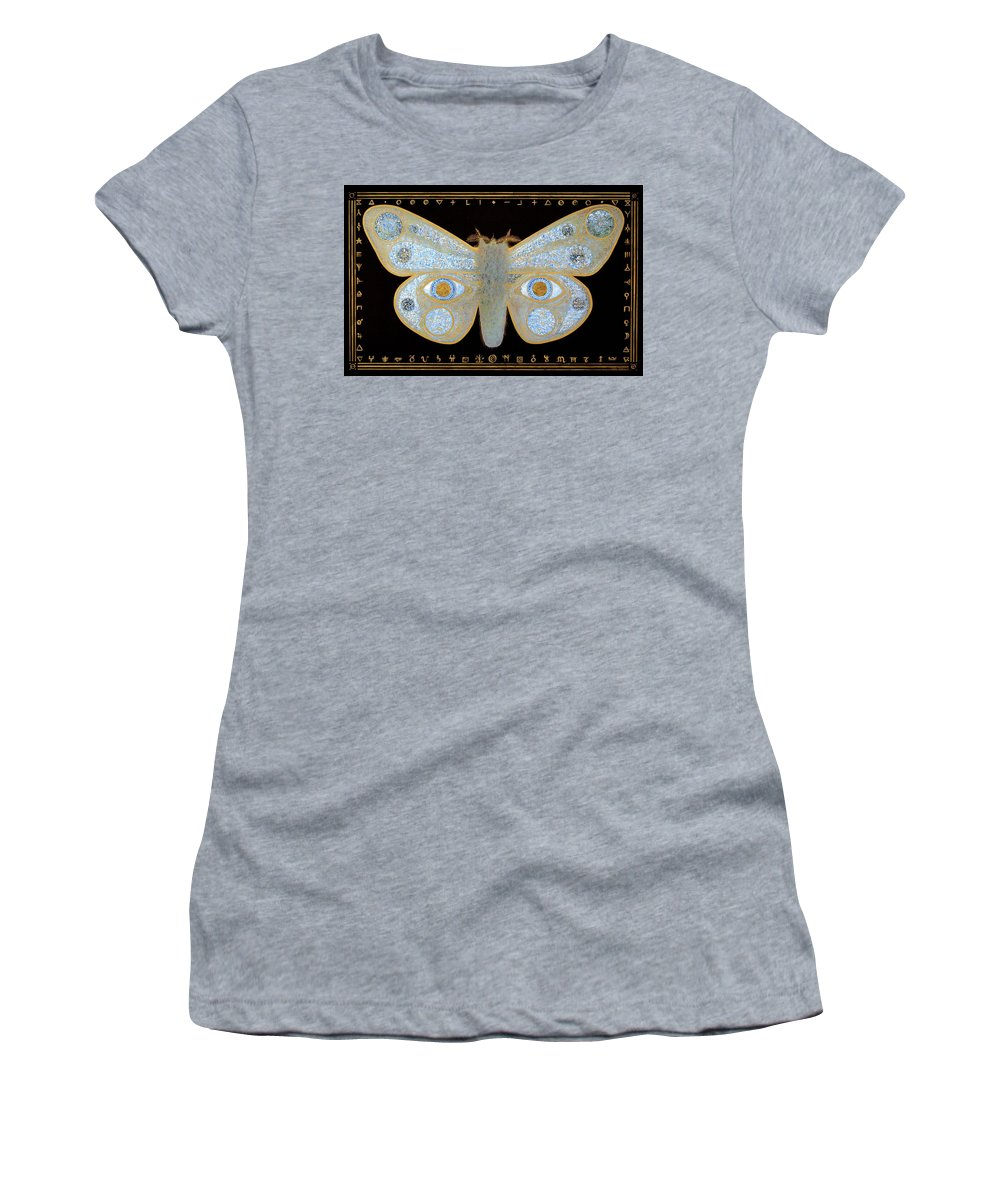 Women's T-Shirt (Athletic Fit) featuring the painting Encryption by Laurie Stewart